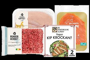 Vlees, vis en vegetarisch