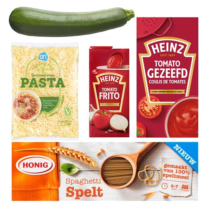 Een afbeelding van Groente pasta pakket