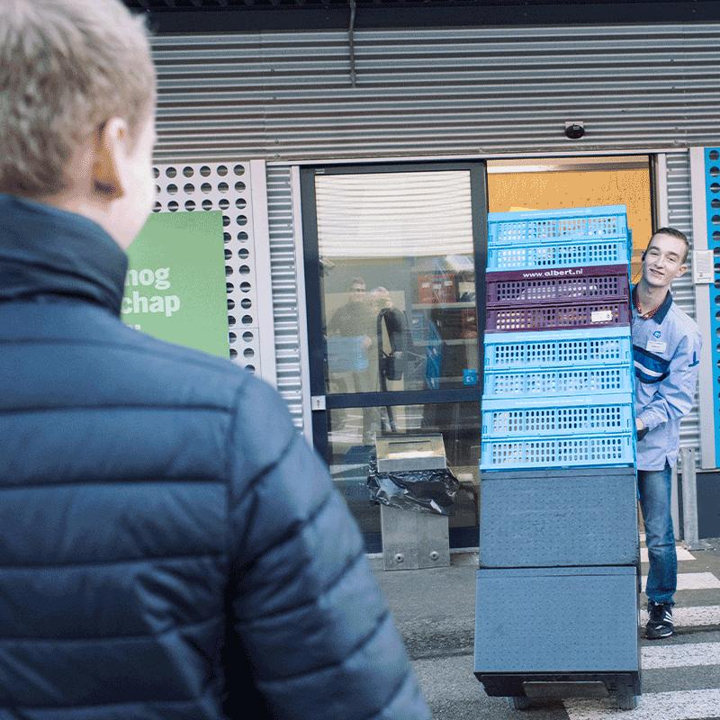 Online reserveren en boodschappen ophalen bij een Pick Up Points gaat zo bij Albert Heijn België.