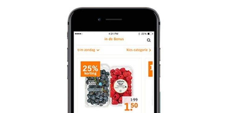 Vind alle Bonus in de Albert Heijn app.
