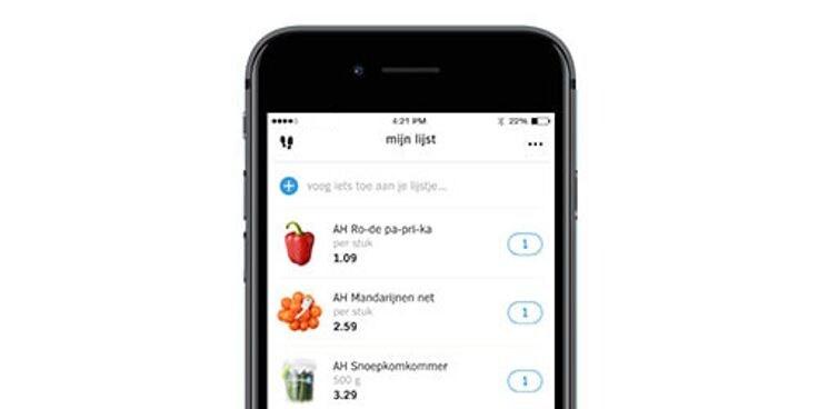 Vind je boodschappenlijstje in de Albert Heijn app.