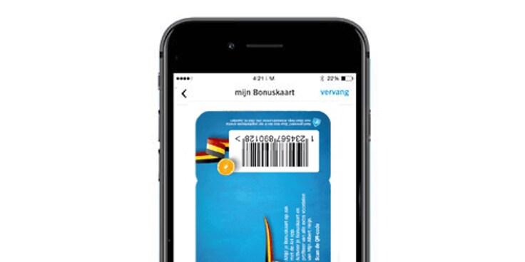 Vind de Bonuskaart in de Albert Heijn app.