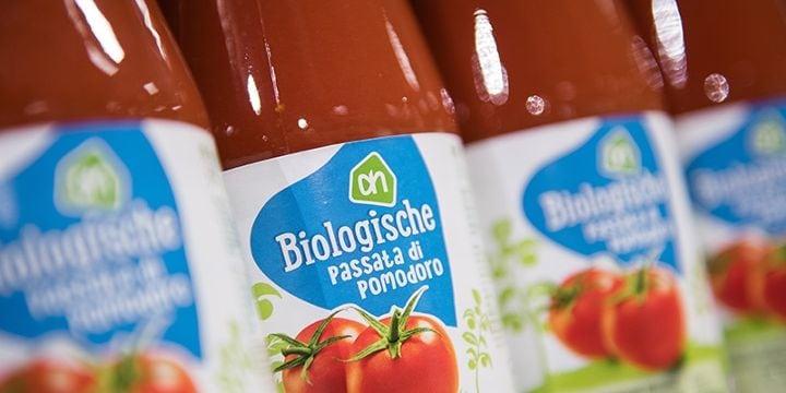 Albert Heijn heeft veel biologische producten die te herkennen zijn aan het merk.