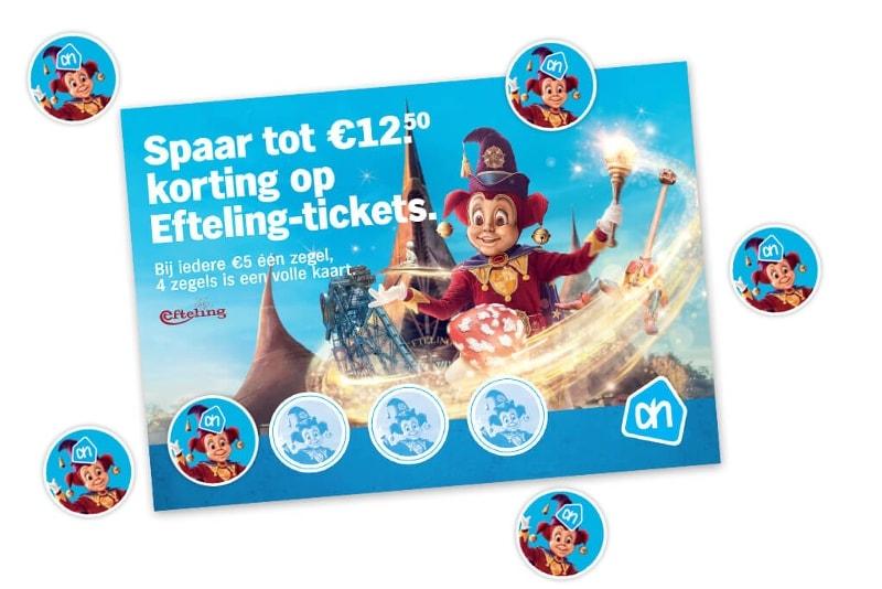 Dit is de spaarkaart voor Efteling tickets die je via Albert Heijn kan krijgen.