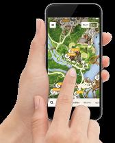 Download de app van de Efteling wanneer je een ticket via Albert Heijn hebt bemachtigd.