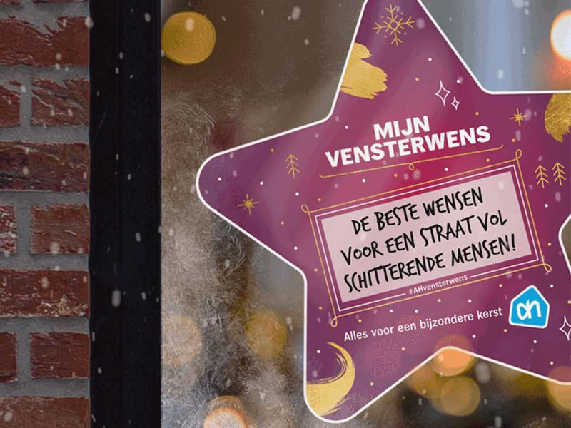 Hang jouw kerstwens voor je venster met de vensterwensen van Albert Heijn België.