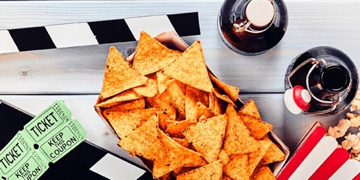 Waar je jouw film ook bekijkt: haal de benodigde snacks en drankjes alvast bij ons in huis. Van krakend tot bruisend; alles voor een geslaagde filmavond vind je gemakkelijk en snel op deze pagina.