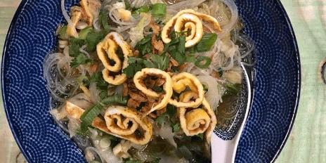 Chinese maaltijdsoep met kip