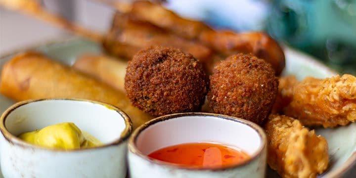 Veggie snacks bij Albert Heijn.