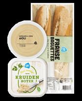 Brood en smeersels voor bij de BBQ bij Albert Heijn