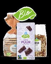 Biologische chocolade, nootjes, stroopwafels en andere snacks bij Albert Heijn