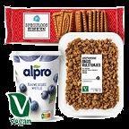 Vegan producten vind je bij Albert Heijn.