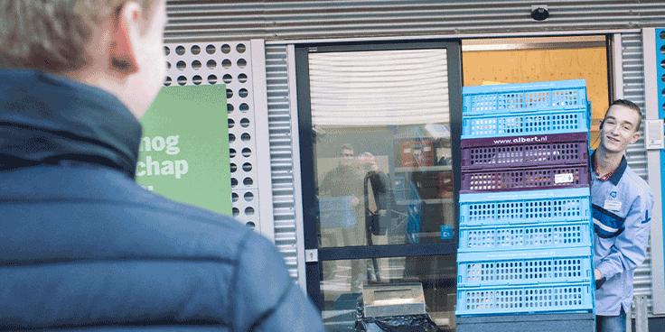 Online boodschappen doen en die ophalen bij een Pick Up Point kan bij Albert Heijn België.