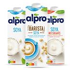 Probeer heerlijke sojamelk voor in de koffie via Albert Heijn.