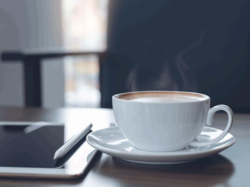 Ook tijdens het thuiswerken is het belangrijk om voor jezelf een koffiepauze in te lassen.