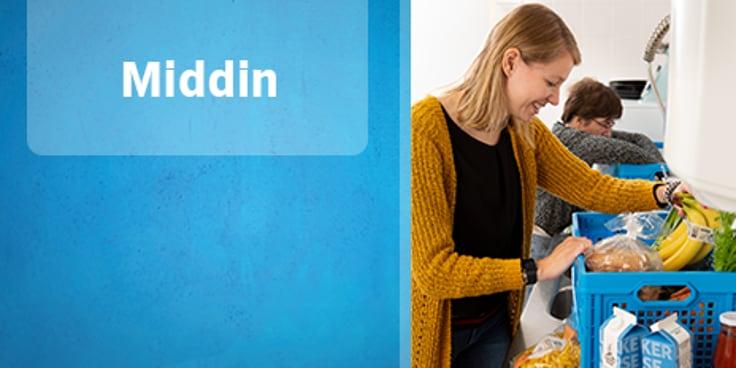 Lees het hele verhaal over zakelijke boodschappen bestellen bij  Albert Heijn van Middin.