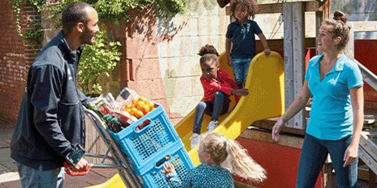 Kies het ideale bezorgmoment voor de boodschappen bij het kinderdagverblijf.