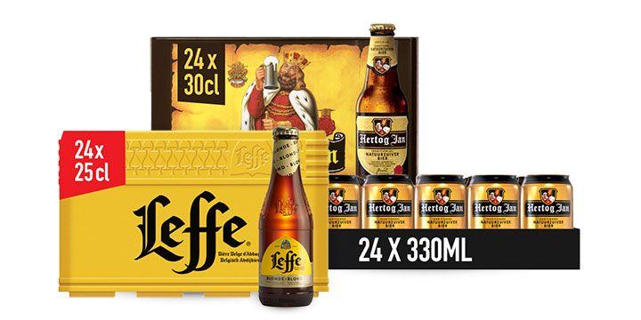 Geniet van de vrijmibo met de bieren van Hertog Jan en Leffe.