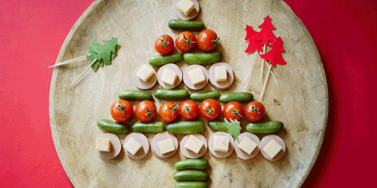 Maak een eetbare kerstboom.