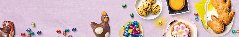 Paaschocolade vind je bij Albert Heijn.
