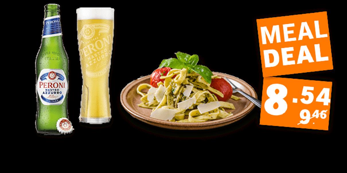 Mealdeal: Een avond Italiaans genieten met verse pasta en koude Peroni
