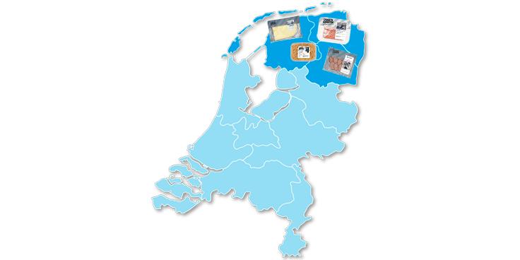 Lokale specialiteiten uit het noorden van Nederland bij Albert Heijn