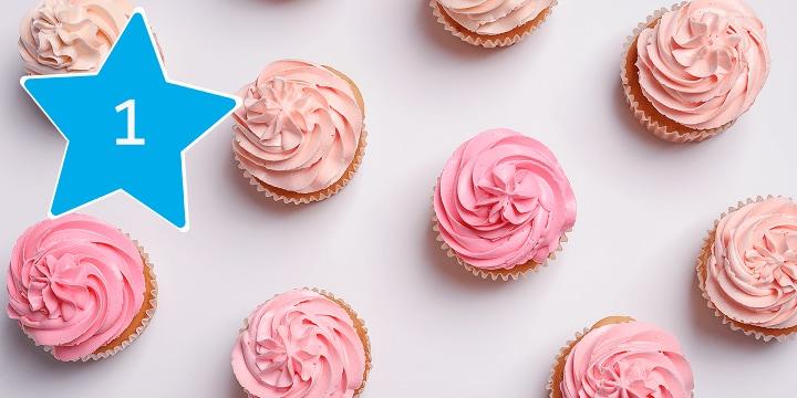 Alles voor het bakken van cupcakes bestel je bij Albert Heijn