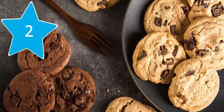 Alles voor het bakken van choccolate chip koekjes bestel je bij Albert Heijn