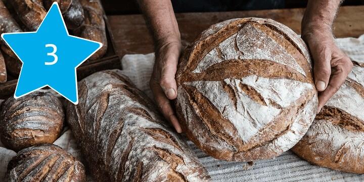 Alles voor het bakken van zuurdesembrood bestel je bij Albert Heijn