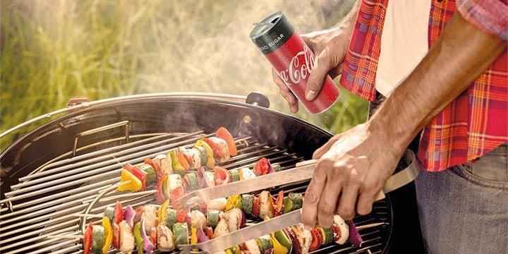 BBQ met Coca-Cola zero sugar bij Albert Heijn
