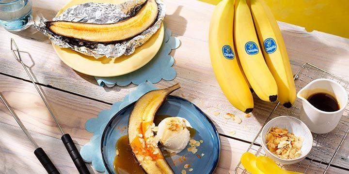 Bananensplit met Chiquita bananen op de BBQ bij Albert Heijn