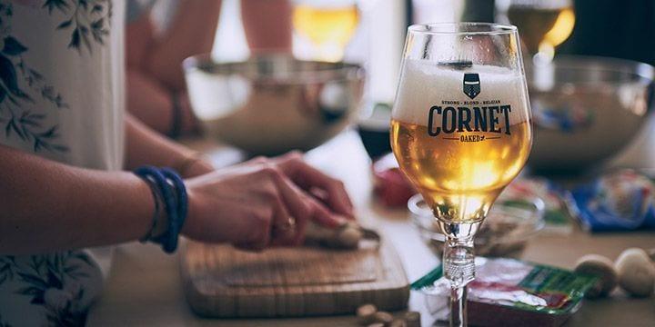 Cornet bier voor bij de BBQ bij Albert Heijn