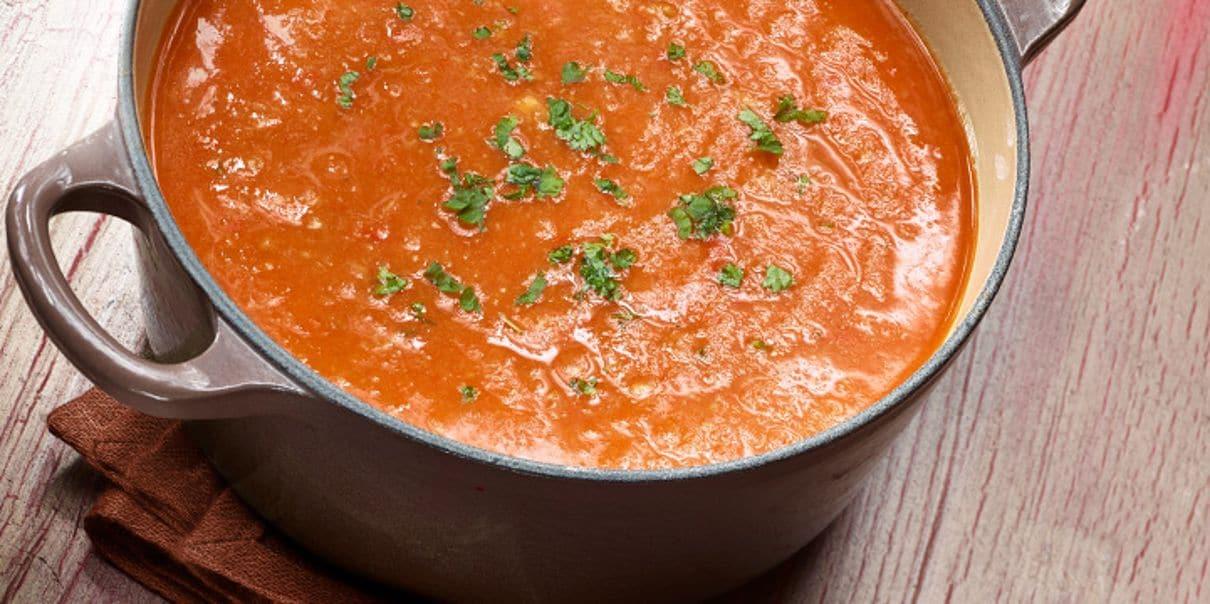 Een hete pan soep, zo op tafel