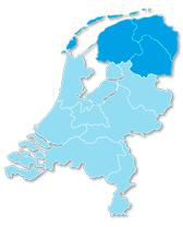Landkaart Streeckgenoten Noord-Nederland