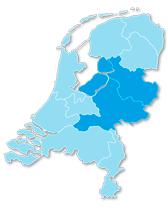 Landkaart Streeckgenoten Oost-Nederland