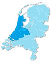 Landkaart Streeckgenoten West-Nederland