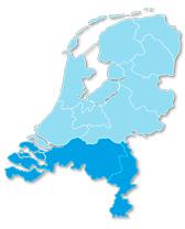 Landkaart Streeckgenoten Zuid-Nederland