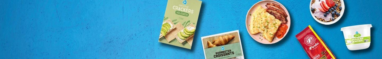 Alles voor het ontbijt van croissants en crackers tot yoghurt en eieren bestel je bij Albert Heijn