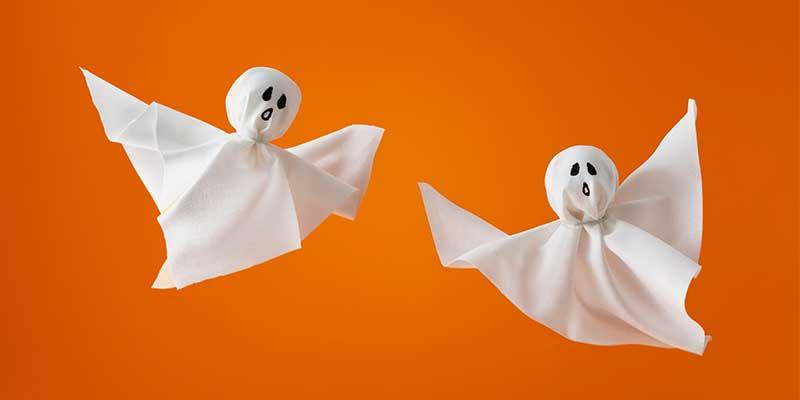 Halloween knutselen - spookjes