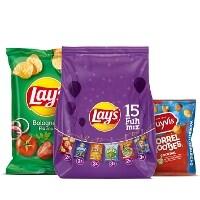 Een afbeelding van bij 6 Lay's, Duyvis en Cheetos producten*