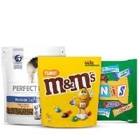 Een afbeelding van bij €10 aan o.a. M&M's producten*