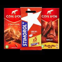 Een afbeelding van bij €10 aan Côte d'Or en Stimorol producten*