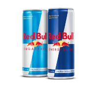 Een afbeelding van bij 2 Red Bull producten*