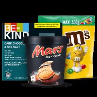 Een afbeelding van bij €10 aan o.a. M&M's en Mars producten*