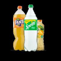 Een afbeelding van bij 7 Fuze Tea, Fanta en Sprite producten*