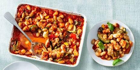 Koolhydraatarm diner: Ovenschotel met kip + gegrilde groente