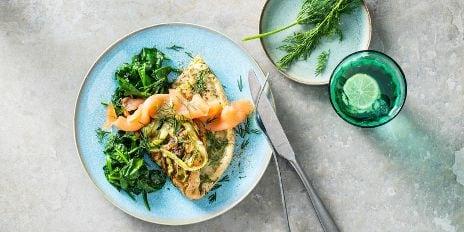 Koolhydraatarm ontbijt: schuimomelet met asperge & zalm