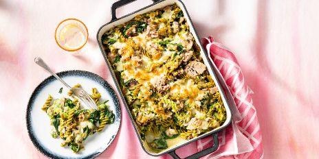 Koolhydraatarm diner: ovenschotel met tonijn en champignons