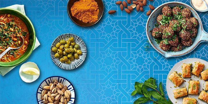 Gerechten voor Ramadan, baklava, linzensoep, lamsballetjes bestellen bij Albert Heijn.
