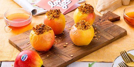 3e gang: Gevulde Kanzi appels crumbles uit de oven